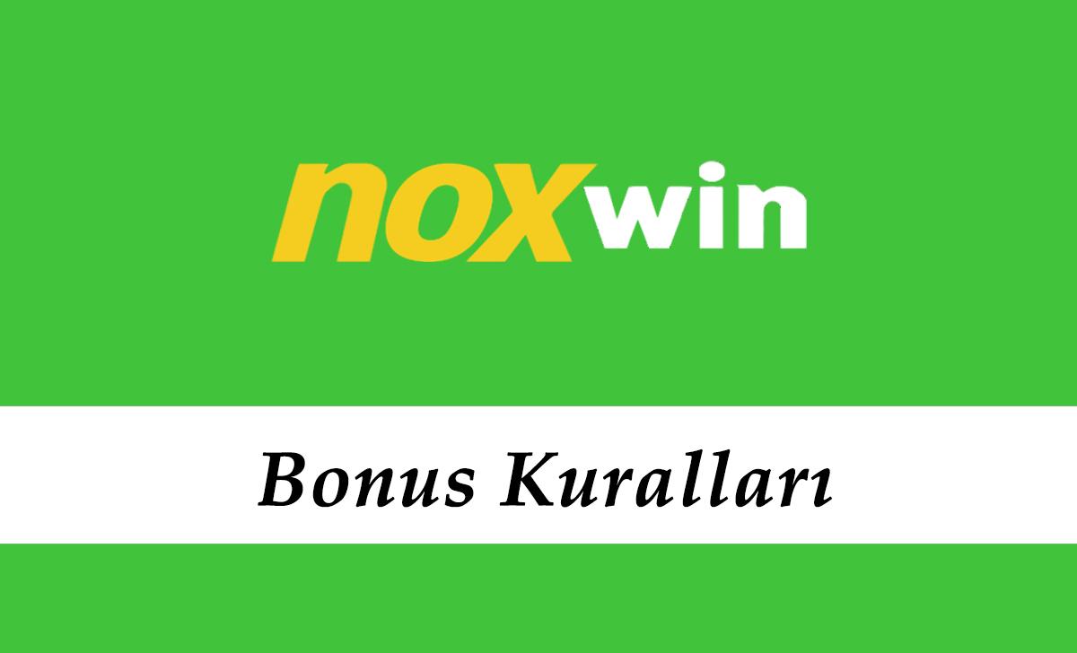 Noxwin Bonus Kuralları